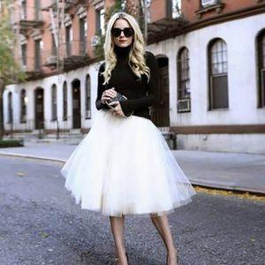Summer vintage tulle  skirt satin elastic band M